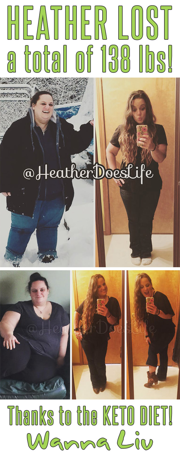 HEATHER LOST a total of 138 lbs! Thanks to the KETO DIET! - Keto Success Stories #10 via Wanna Liv