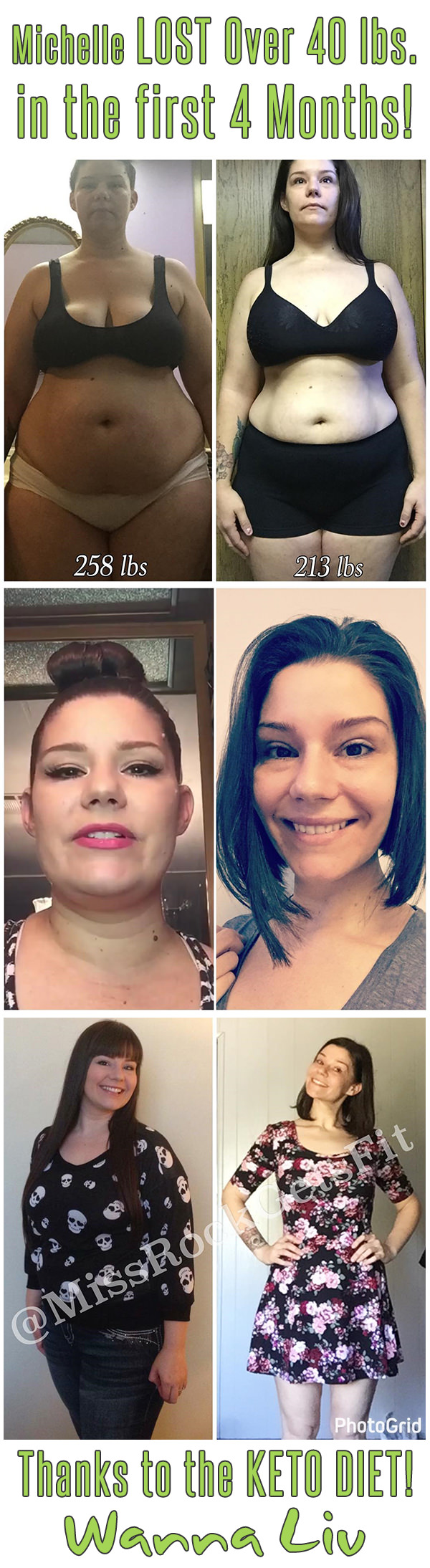 Michelle LOST Over 40 lbs. in the first 4 Months! Thanks to the KETO DIET! - Keto Success Stories #2 via Wanna Liv