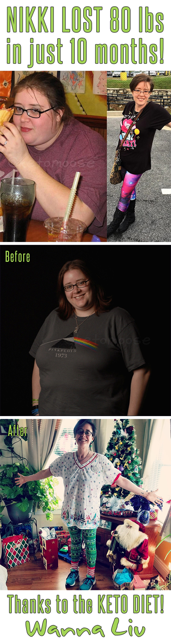 NIKKI LOST 80 lbs in just 10 months! Thanks to the KETO DIET! - Keto Success Stories #12 via Wanna Liv
