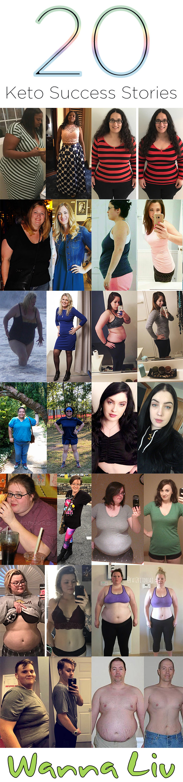 Click the image or visit our website to see these incredible 20 Keto Success Stories! #wannaliv