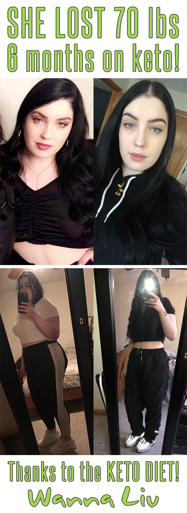 SHE LOST 70 lbs 6 months on keto! Thanks to the KETO DIET! - Keto Success Stories #9 via Wanna Liv