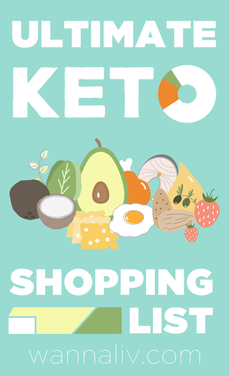 You're ready to start the keto diet, but maybe you're still unsure of which foods should be on your keto shopping list and which ones need to be crossed off. We're here to help clear up that confusion and provide you with the ultimate keto shopping list! #wannaliv