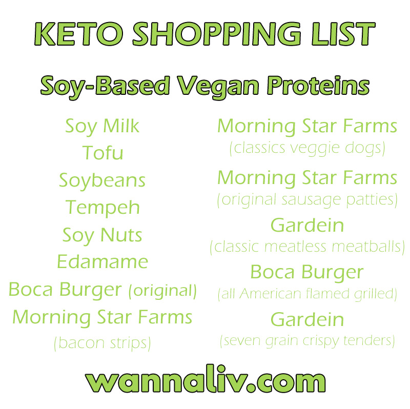 Keto Shopping List: Soy-Based Vegan Proteins via Wanna Liv #wannaliv