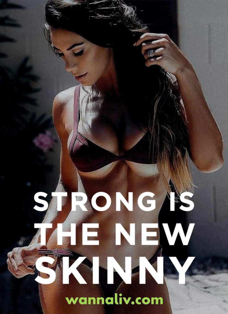 Strong is the new skinny. | Amazing Motivational & Inspirational Gym Quotes via Wanna Liv #wannaliv