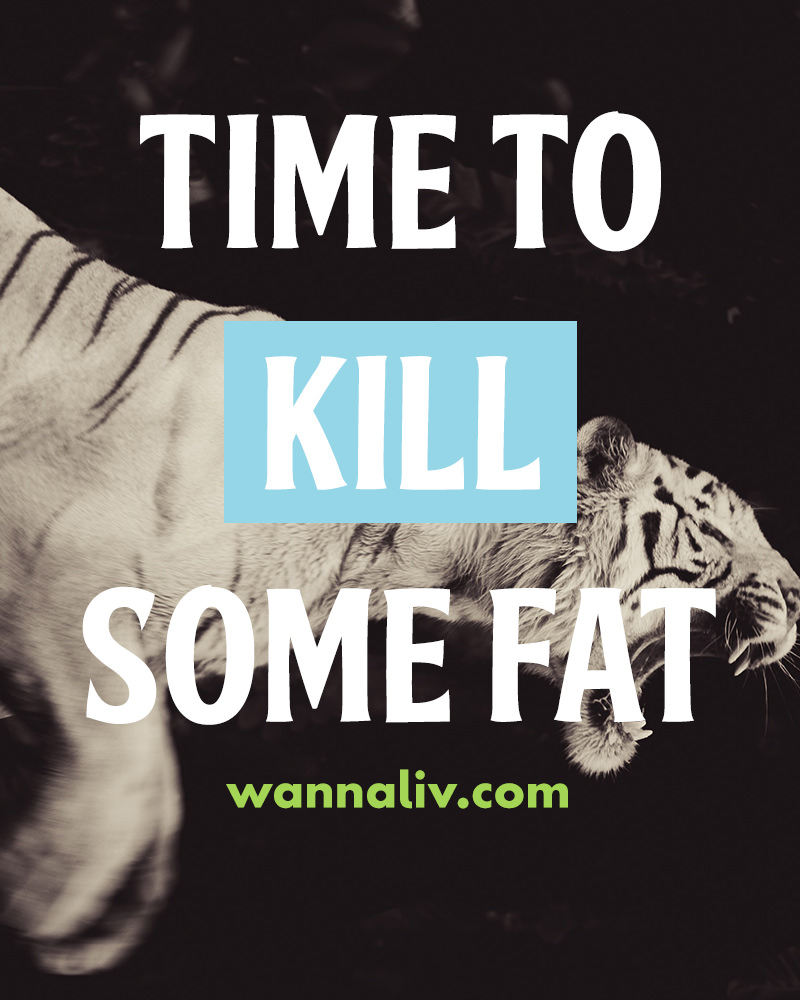 Time to kill some fat. | Amazing Motivational & Inspirational Gym Quotes via Wanna Liv #wannaliv