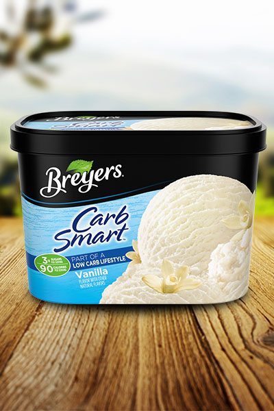 Keto/Low Carb Friendly Ice Cream Brands: Breyers® CarbSmart via Wanna Liv