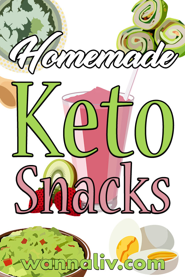 The Best Keto Diet Friendly Snacks Guide: Homemade Keto Snacks via wannaliv.com #wannaliv